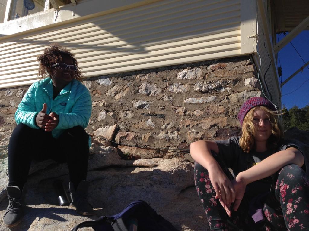 Loren and Iris enjoy the view from Lemmon Rock fire lookout