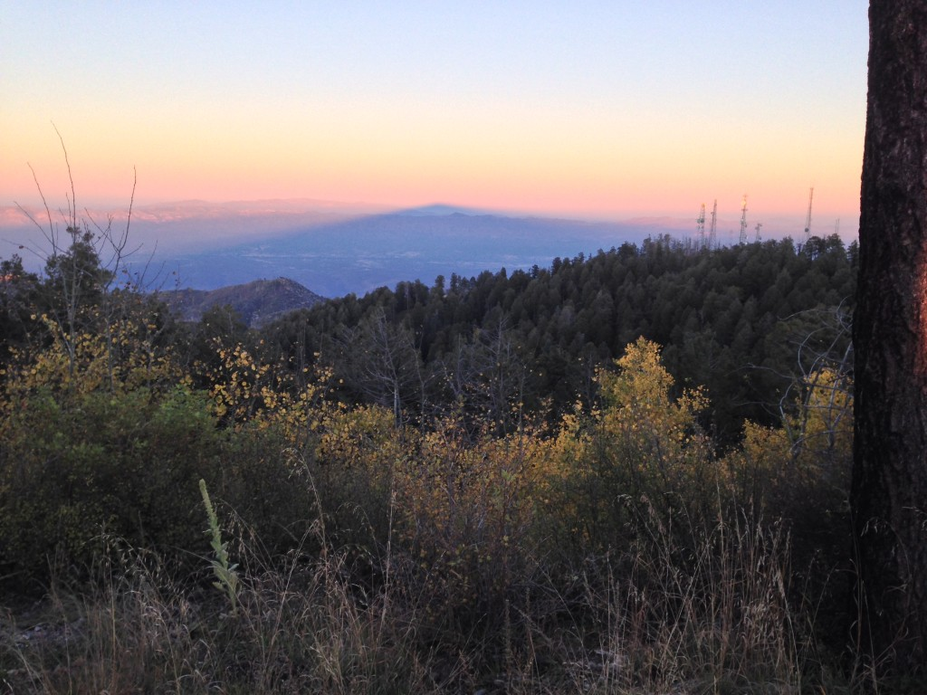 Mt. Lemmon casts a shadow over the San Pedro Valley